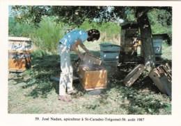 56 - Morbihan -SAINT CARADEC - TREGOMEL - José Nadan Apiculteur Devant Ses Ruches - 1987 - Francia