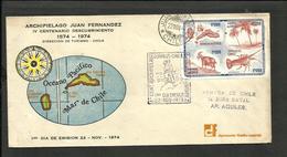 CHILE 1974 COVER JUAN FERNANDEZ ISLAND CANCEL FDC, VERY RARE !!!!! - Chile