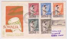 Somalie - Somalia - Mogadiscio Registered FDC 1956 To Venezia - Somalie