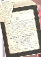 Jandrain Décès Noblesse 2 Documents  Chateau  1943 - Décès