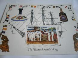 Miniature Sheet Perf 1986 History Of Rum Making - British Virgin Islands