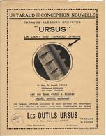 Les Outils URSUS / 6 Rue Duhesme Paris / Année 1925 - Publicités