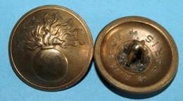 Lot De 8 Boutons Infanterie Doré Dia 22 - Buttons