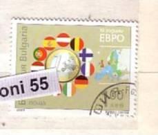 2009 10 Years EURO 1v.- Used/oblitere (O)  Bulgaria / Bulgarie - Idées Européennes