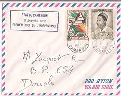 Etat Du Cameroun 1960 Premier Jour De L'Indépendance Destination Douala - Cameroun (1960-...)