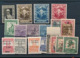 RUANDA URUNDI 1941 ISSUE SELECTION LH - Ruanda-Urundi