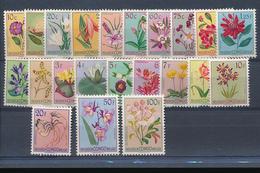 BELGIAN CONGO FLOWERS ISSUE COB 302/323 LH - Belgisch-Kongo