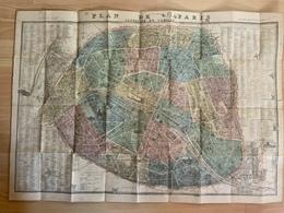 Plan De Paris 1887 Dressé Par Lallemand, Graveur Du Dépot De Guere / 63 X 90 Cm / Plan Seul Sans Couvertute - Old Paper