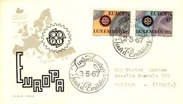 *1967 - LUSSEMBURGO - EUROPA - BUSTA FDC.+4 - FDC
