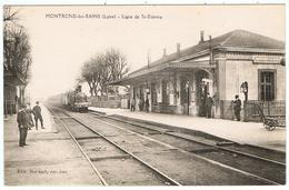 Montrond-les-Bains / Ligne De St-Etienne / Gare / Train / Ed.Berland - Otros Municipios