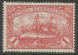 German SW Africa - 1912 Kaiser's Yacht 1mk MH *   Mi 29  Sc 31 - Colony: German South West Africa