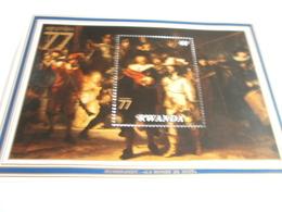 Miniature Sheet Perf Rembrandt Amphilex 77 - Rwanda