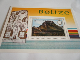 Miniature Sheet Perf Temples - Belize (1973-...)