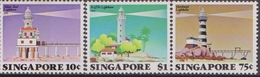 Singapore - 1982 Ligthouse Fari  Set MNH - Singapore (1959-...)