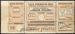 -France Colis Postaux Paris Pour Paris  33** - Colis Postaux