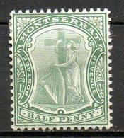 MONTSERRAT - (Colonie Britannique) - 1908-09 - N° 31A - 1/2 P. Vert - (Symbole De La Colonie) - Montserrat