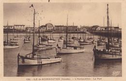 85. ILE DE NOIRMOUTIER. CPA SEPIA.  L'HERBAUDIERE. LE PORT. ANNÉE 1937 - Ile De Noirmoutier