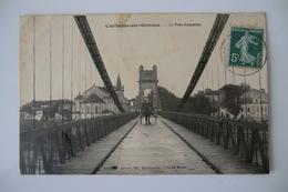 CPA 47 LOT ET GARONNE COUTHURES SUR GARONNE. Le Pont Suspendu. 1908. - France