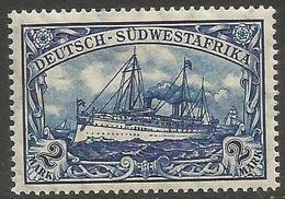 German SW Africa - 1911 Kaiser's Yacht 2mk MH *   Mi 30  Sc 32 - Colony: German South West Africa