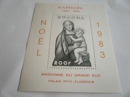 Miniature Sheet Perf Christmas 1983 Raphael - Rwanda