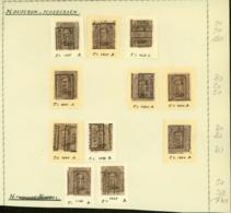 BELGIQUE PREOS MOUSCRON 2C 1924-1928 POS A,B,C,D VAL CAT 780 FB MONTE SUR FEUILLE (DD) DC-3325 - Precancels
