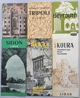 [LIBAN] [TOURISME] 12 Brochures Touristiques 1950 1960 - Folletos Turísticos