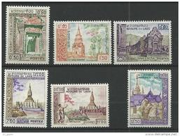 """Laos YT 63 à 68 """" Temples """" 1959 Neuf** - Laos"""