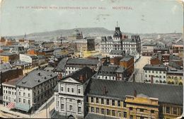 View Of Montreal (Quebec) With Courthouse And City Hall 1913 - Montreal
