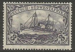 German SW Africa - 1919 Kaiser's Yacht 3mk MH *   Mi 31  Sc 33 - Colony: German South West Africa