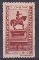France, Vignettes -  Ste Jeanne D'Arc - Commemorative Labels