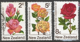 New Zealand. 1971 1st World Rose Convention, Hamilton. Used Complete Set. SG 967-969 - New Zealand