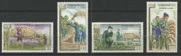 """Laos YT 86 à 89 """" Contre La Faim """" 1963 Neuf* - Laos"""