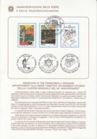7293FM- JEWISH DEPORTEES AND MARTYRS, HUSKY OPERATION, WW2, HISTORY, BOOKLET-POSTCARD-COVER, OBLIT FDC, 1993, ITALY - WW2