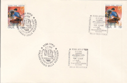 7296FM- FOSSE ARDEATINE MASSACRE ANNIVERSARY, WW2, HISTORY, STAMPS AND SPECIAL POSTMARKS ON COVER, 1995, ITALY - WW2