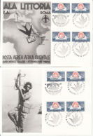 7297FM- COLLONIAL STAMP'S DAY, PHILATELY, SPECIAL POSTCARDS, OBLIT FDC, 2X, 1993, ITALY - Stamp's Day