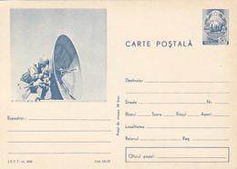 79007- RADIO DISH, SOLDIERS, MILITARIA, POSTCARD STATIONERY, 1967, ROMANIA - Militaria