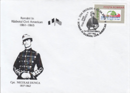79064- CAPTAIN NICOLAE DUNCA, ROMANIANS IN THE AMERICAN CIVIL WAR, HISTORY, SPECIAL COVER, 2003, ROMANIA - History