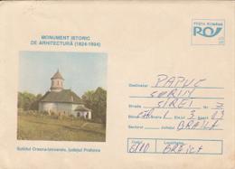 79072- CRASNA IZVOARELE HERMITAGE, CHURCH, ARCHITECTURE, COVER STATIONERY, 1994, ROMANIA - Churches & Cathedrals