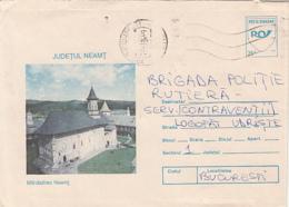 79076- NEAMT MONASTERY, CHURCH, ARCHITECTURE, COVER STATIONERY, 1994, ROMANIA - Abbeys & Monasteries