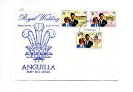 LAB680 - ANGUILLA 1981 , Royal Wedding Charles Diana Su FDC - Anguilla (1968-...)