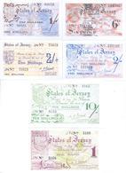 Jersey German Occupation WWII 6 Note Set COPY - Jersey
