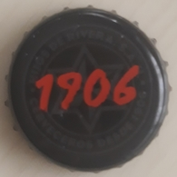 CHAPA CERVEZA 1906 ESTRELLA GALICIA. USADO - USED. - Cerveza