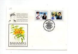 LAB682 - BAHAMAS 1981 , Royal Wedding  Charles Diana Su FDC - Bahamas (1973-...)