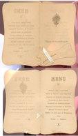 Havelange (namur)  Doyon   Menu 1912 - Menus