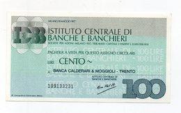Italia - Miniassegno Da Lire 150 Emesso Dall Istituto Centrale Di Banche E Banchieri Di Milano Nel 1977 - (FDC15526) - [10] Checks And Mini-checks
