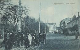 Postkaart CPA . Czetochowa. Utica Dejazd. - Polonia
