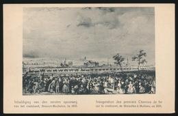 MECHELEN  INHULDIGING VAN DEN EERSTEN SPOORWEG VAN HET VASTENLAND  BRUSSEL MECHELEN IN 1835 - Mechelen