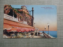 CPA ITALIE GRIMALDI FRONTIERA ITALO FRANCESE TERRASSE CAFE - Italia