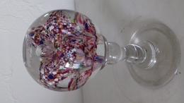 PRESSE PAPIER EN VERRE SULFURÉ , ANCIEN, H: 140 - Diamètre: 68 - Poids: 510 G. - SUP - Glass & Crystal