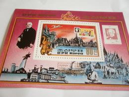 Miniature Sheet Perf Sir Rowland Hill 83 Expo - Korea, North